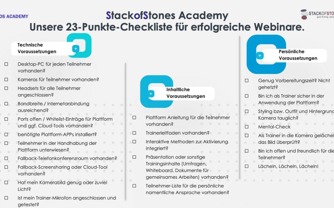 Unsere 23-Punkte-Checkliste für erfolgreiche Webinare.